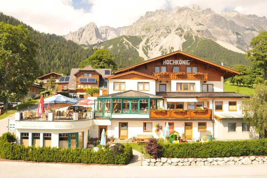 Außenansicht Hotel-Appartements Hochkönig in Ramsau am Dachstein