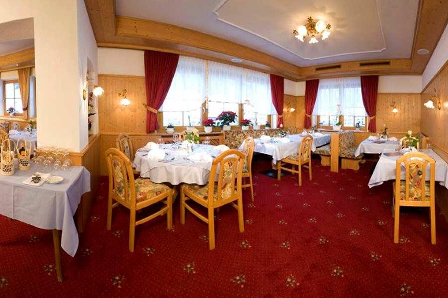 Das Restaurant im Hotel Persura in Ischgl