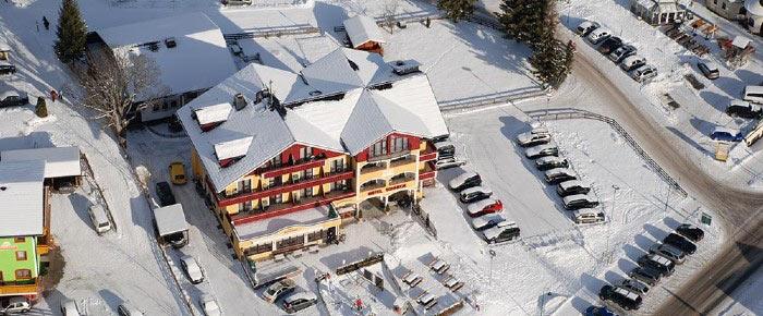 Blick auf das Hotel Sonneck in Rohrmoos-Schladming