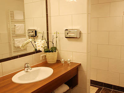 Badezimmer im Hotel Stocker in Schladming-Rohrmoos