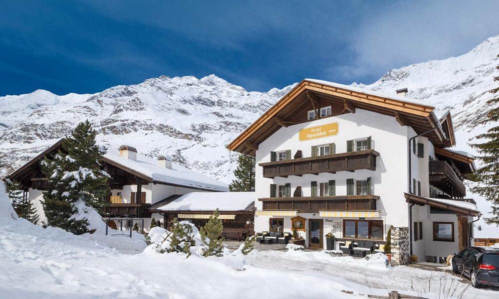 Das Hotel Alpenblick in Pfelders