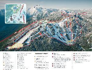 Pistenplan Grouse Mountain © Grouse Mountain Resorts