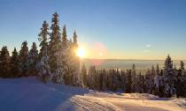 Sonnenschein im Skigebiet Grouse Mountain © Grouse Mountain Resort