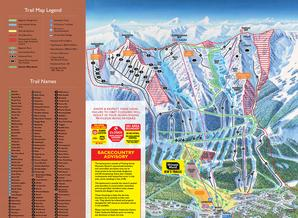 Pistenplan Kicking Horse Mountain Resort