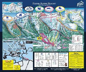 Pistenplan Fernie Alpine Resort © Fernie Alpine Resort