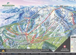 Pistenplan Whitefish Mountain Resort