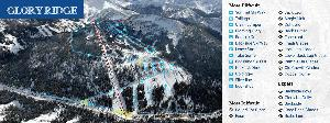 Pistenplan Whitestar Ski Resort - Gloryridge © Whitewater Ski Resort