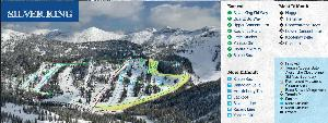 Pistenplan Whitestar Ski Resort - Silver King © Whitewater Ski Resort