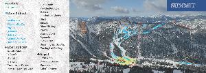 Pistenplan Whitestar Ski Resort - Summit © Whitewater Ski Resort