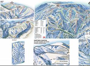 Pistenplan Powder Mountain