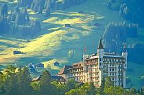 Außenansicht des Palace Hotels in Gstaad © Gstaad Palace, Wikimedia Commons (CC BY-SA 4.0)