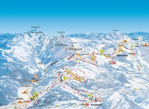 Pistenplan Skiregion Dachstein West