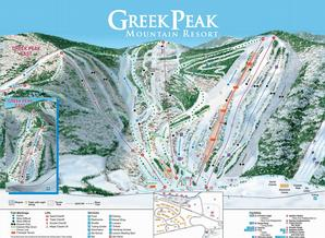 Pistenplan Greek Peak Mountain Resort