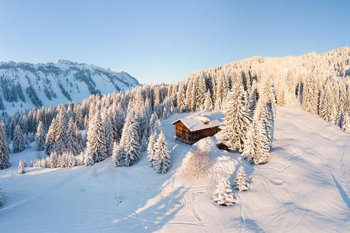 Die Wannenkopfhütte auf 1350 Metern