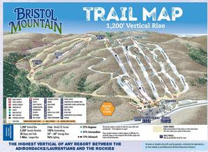Pistenplan Bristol Mountain Resort
