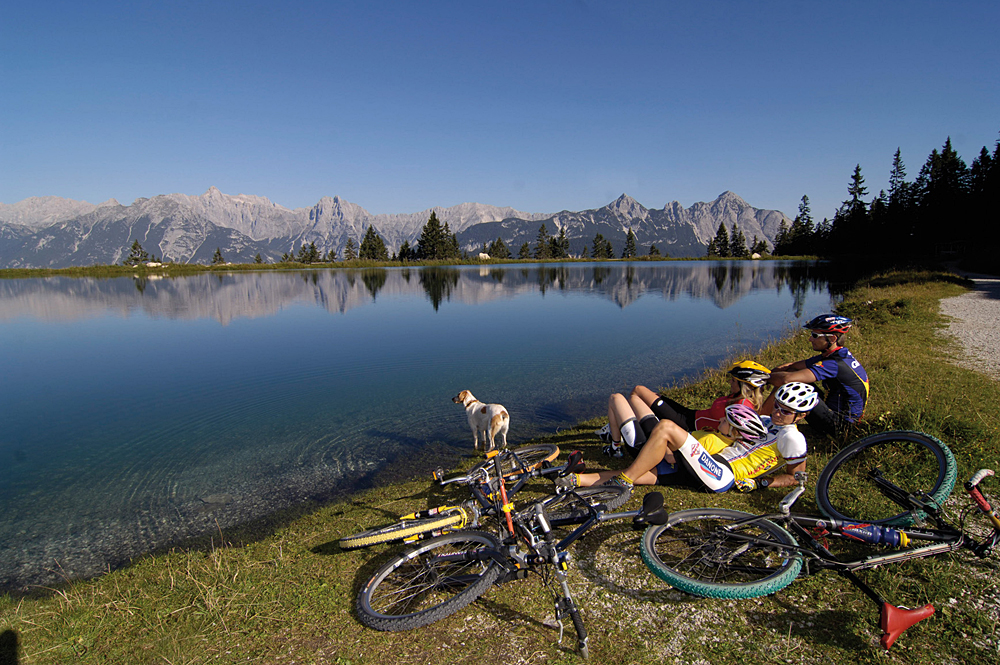 Mountainbiker am Kaltwassersee