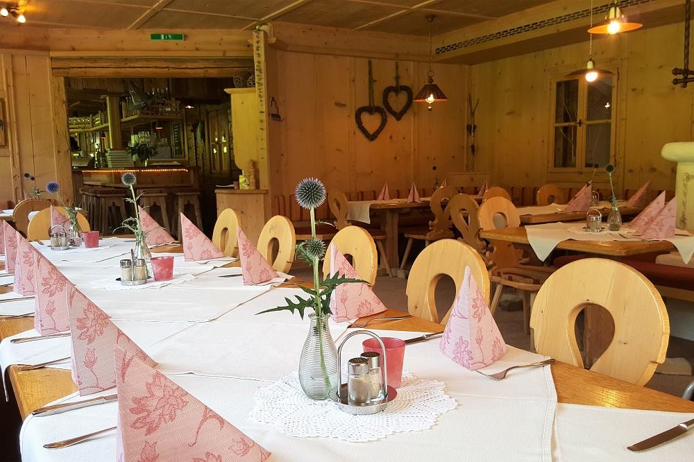 Das Restaurant auf dem Schrannenhof in Schoppernau