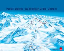 Pistenplan Passo Stelvio / StilfserJoch © Sitour Marketing GmbH
