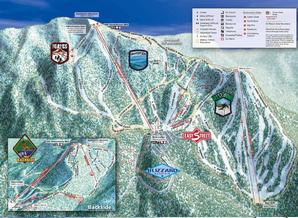 Pistenplan Sierra -at- Tahoe / Lake Tahoe