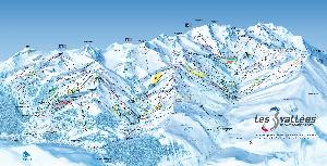 Pistenplan Les 3 Vallees © Office de Tourisme Val Thorens