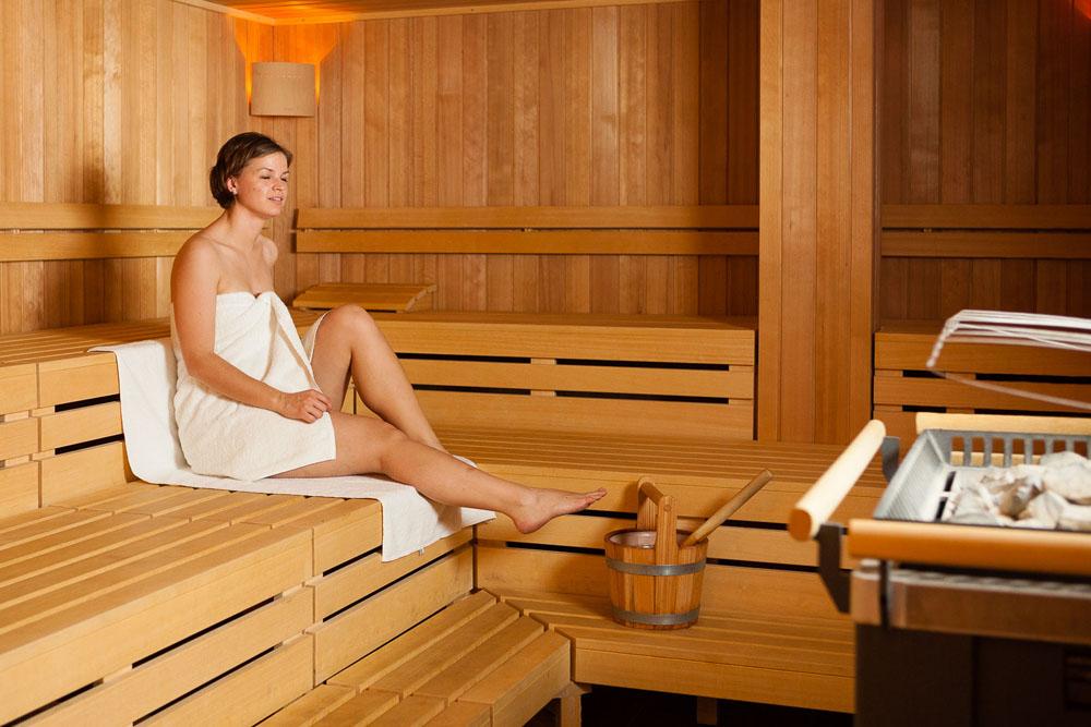 Finnische Sauna im Explorer Hotel