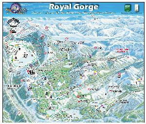Loipenkarte Royal Gorge © Royal Gorge Cross Country Resort