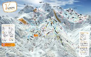 Pistenplan Valmorel © Office de Tourisme de Valmorel