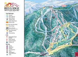 Pistenplan Red Lodge  Mountain Resort