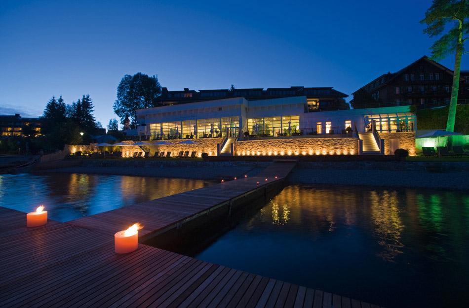 Blick auf Treschers Schwarzwaldhotel am See