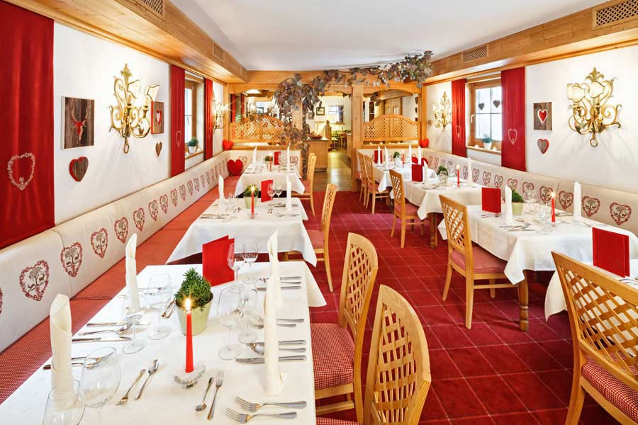 Restaurant im Hotel Lech in Lech am Arlberg