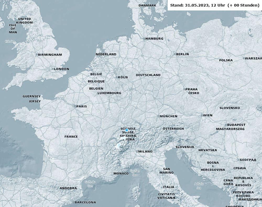 Schneehöhe Wettergrafik