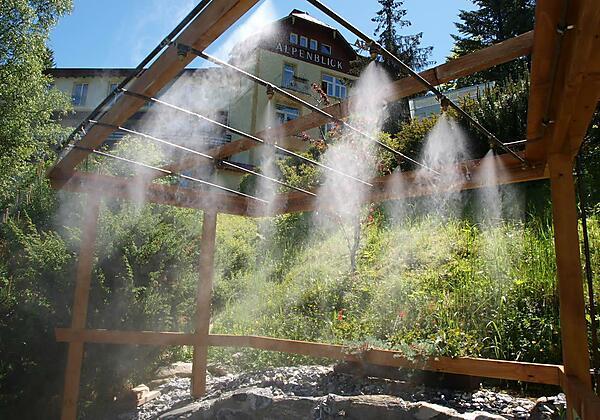 Wildwasser-Vernebelung-Hotel-Alpenblick-Bad Gastei