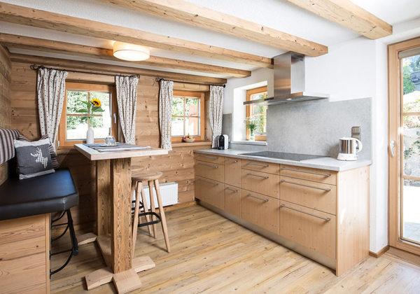 Küche im Bergchalet Rauchenhof in Reith