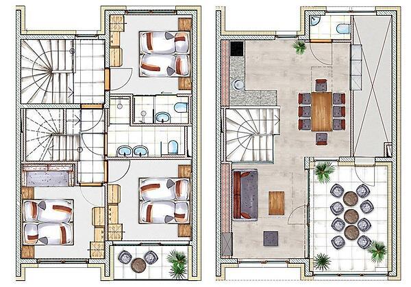 Grundriss Penthouse 6-10 Personen