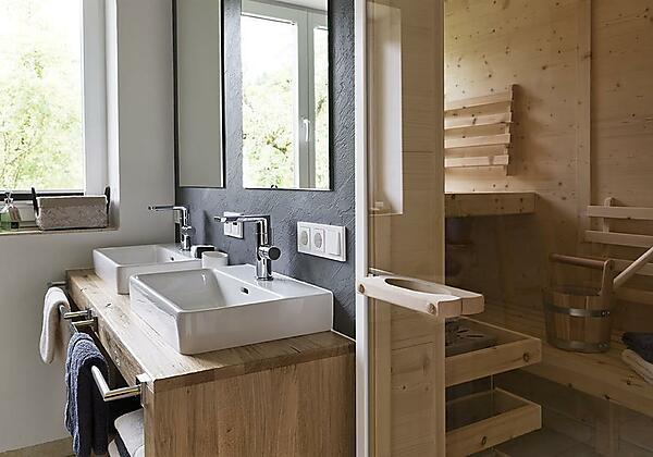 Badezimmer mit Sauna Appartment 2