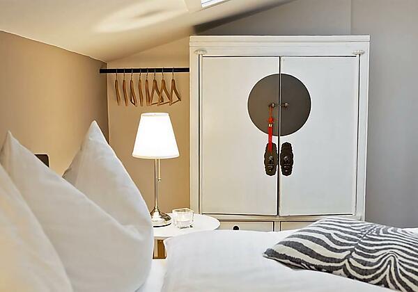 Badezimmer im Premium-Appartement 3 mit Sauna