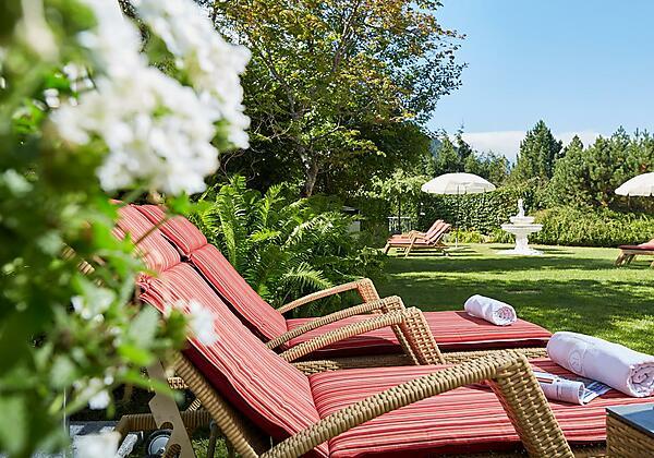Sommergenuss im Hotelgarten