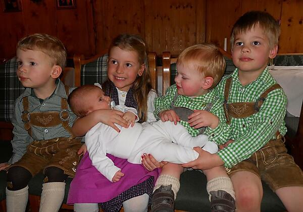 Unsere fünf Enkelkinder