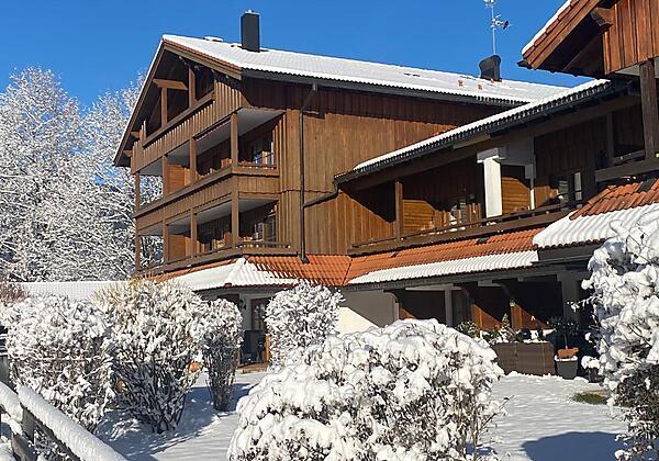 Winter Ausblick von Terrasse