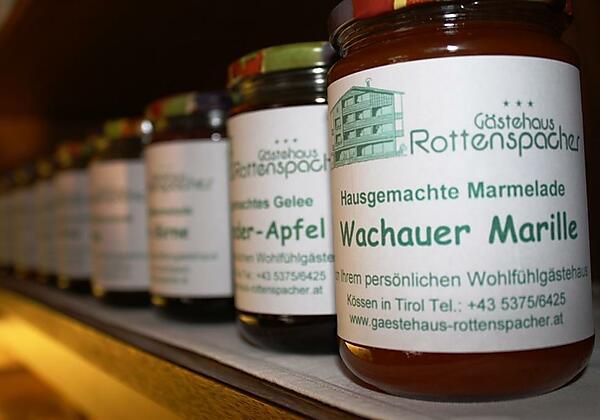 Gästehaus Rottenspacher Hausgemachte Marmeladen