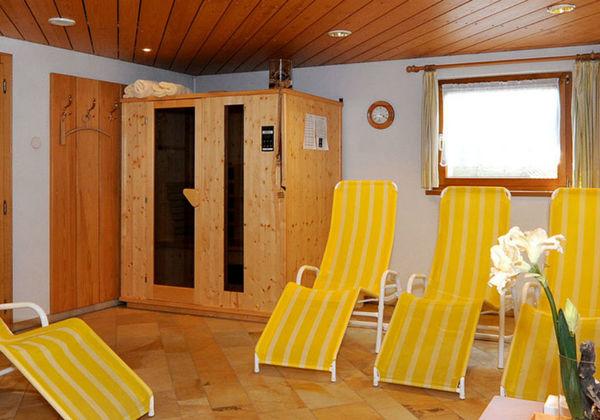 Der Frühstücksraum im Haus Alpina in Au