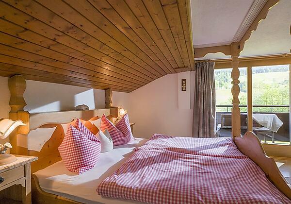 Schlafzimmer Appartement Bergblick