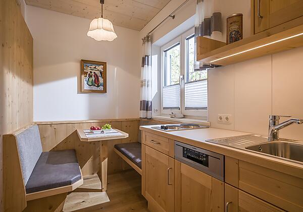 Wohnzimmer Appartement Bergblick