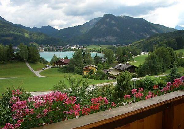 Blick vom Balkon zum Ortszentrum