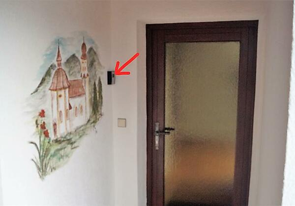 Eingang App. Schlüsselsafe Haus Meinrad Seefeld in