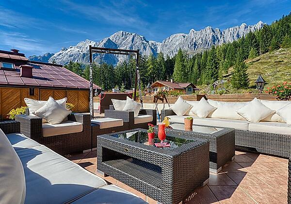Hochkönig Lounge auf der Panoramaterrasse