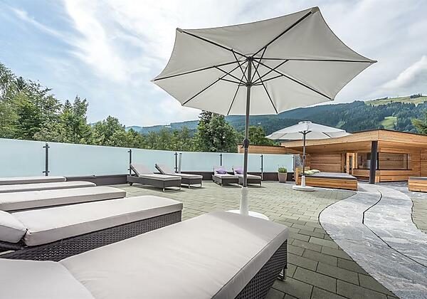 Poolterrasse Hotel Leogang Leonhard