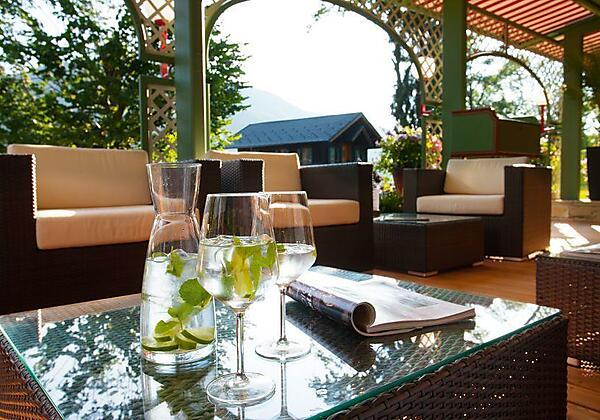 Lounge Bereich auf der Seeterasse