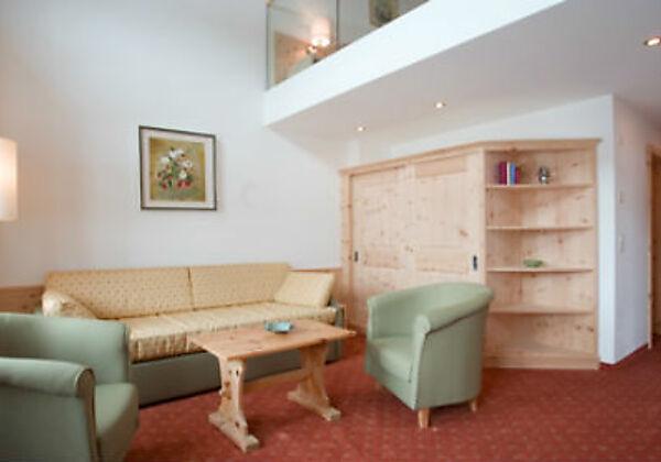 Die Suite Edelweiss Südseite im Hotel Seraina in Sils-Maria