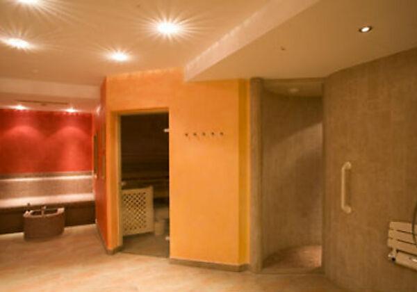 Der Wellnessbereich im Hotel Seraina in Sils-Maria